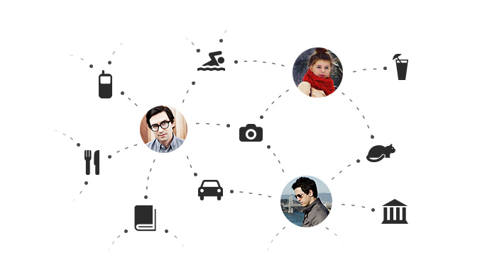 Общие интересы в социальных сетях